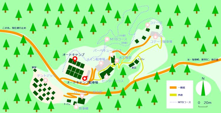 マップ(オートキャンプ)