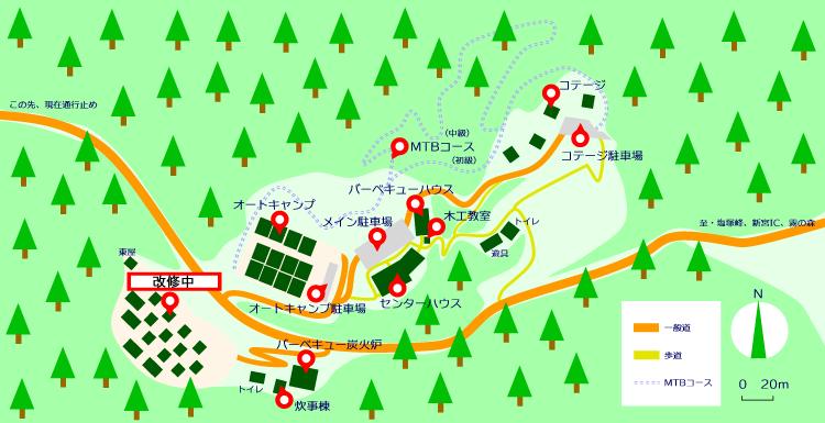 マップ(霧の高原テントデッキ改修中)