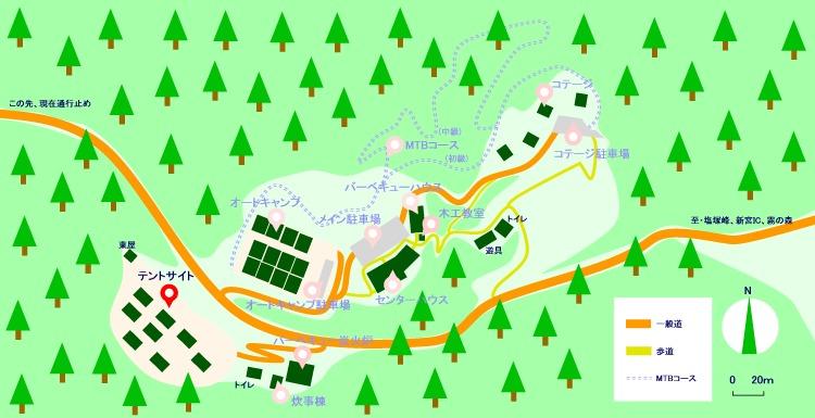 マップ(テントサイト)